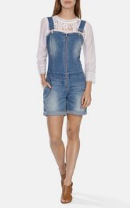 Mid wash denim playsuit