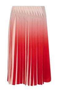 Dip dyed skirt with manipulated pleats