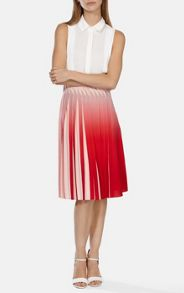 Karen Millen Dip dyed skirt with manipulated pleats