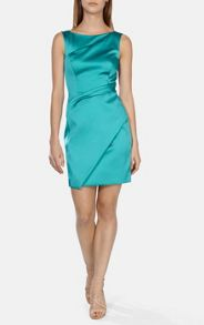 Signature stretch satin shift dress