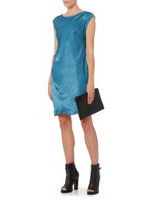 Label Lab Hammered satin cutout back dress