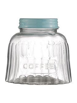 Glass coffee jar
