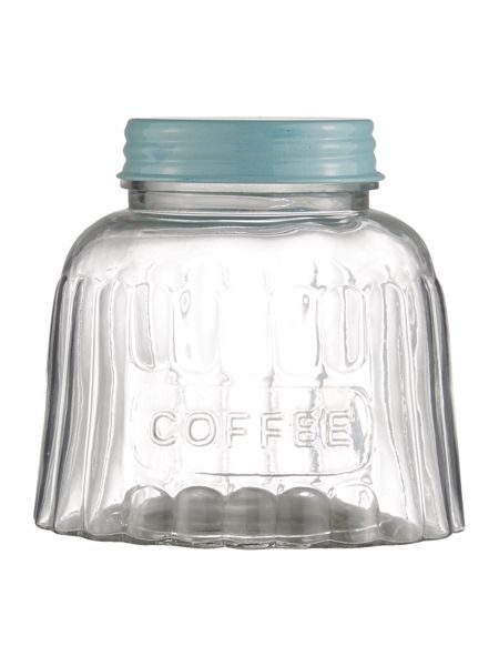 Dickins & Jones Glass coffee jar