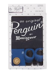 Original Penguin Newborn All In One 3 Piece Gift Set