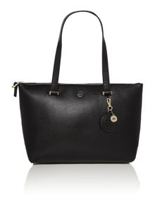 Lana black zip tote bag