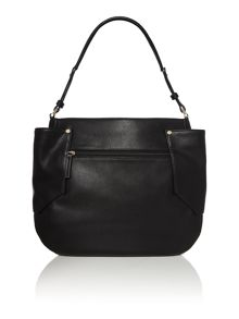 Rhea black hobo bag