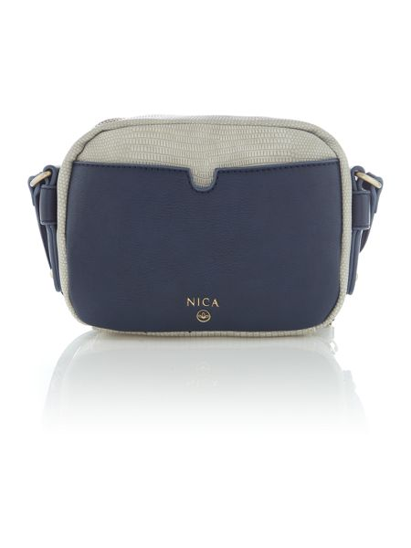 Nica Olivia small grey cross body bag