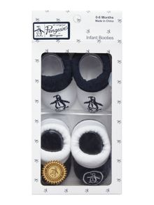 Original Penguin Newborn 2 Pack Booties