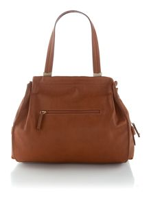 Anna tan shoulder tote bag