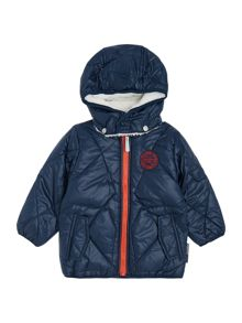 name it Boys Padded Hooded Jacket With Logo