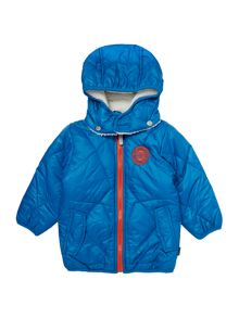 Boys Padded Hooded Jacket With Logo