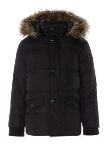name it Boys Down Filled Jacket With Detachable Hood