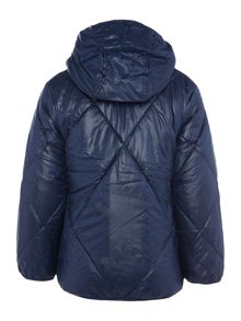 Boys Quilted Padded Jacket With Detachable Hood