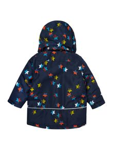 Boys Confetti Star Jacket With Detachable Hood