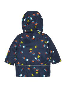 name it Boys Confetti Star Jacket With Detachable Hood