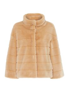 Airone short faux fur coat
