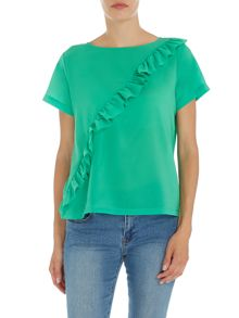 Polly plains frill front t-shirt