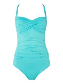 Seafolly Twist halter maillot swimsuit