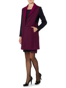 Aiuola colour block wool coat