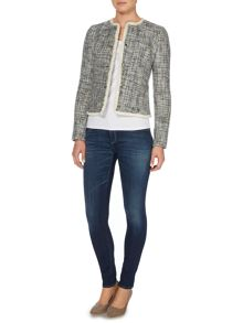Armani Jeans Boucle tweed stud button jacket