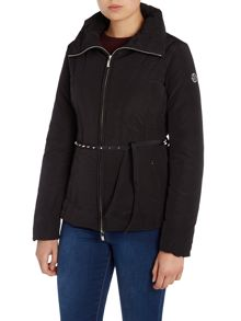 Armani Jeans Short padded coat with stud belt