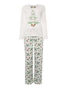 Pine Tree Jersey PJ Set