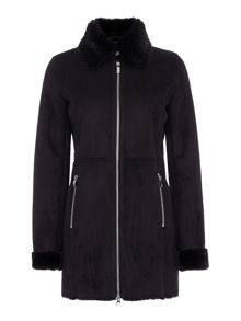 Armani Jeans Faux fur shearling coat
