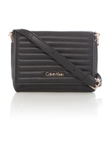 Jo black small flap over cross body bag