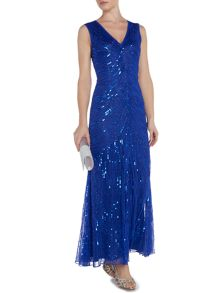 Linea Sequin Fishtail Maxi