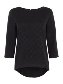 Armani Jeans 3/4 sleeve loose spot top