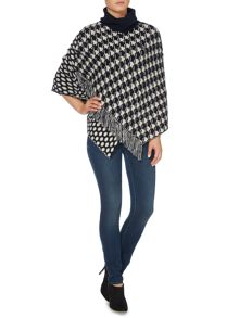 Armani Jeans Houndstooth spot print poncho