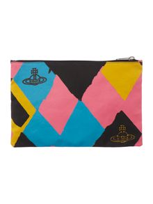 Africa multi coloured zip pouch
