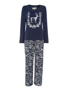 Dickins & Jones Stag Jersey PJ Set