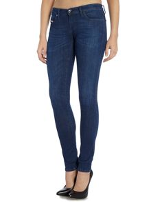 Diesel Skinzee low rise skinny jean in denim mid wash