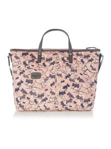 Cherry blossom dog pink cross body bag