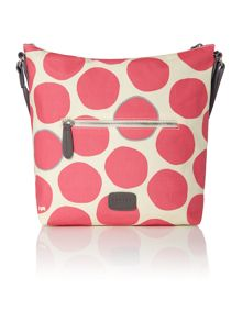 Spot on pink bucket cross body baag