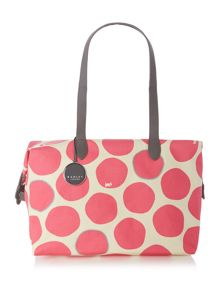 Spot on pink tote bag