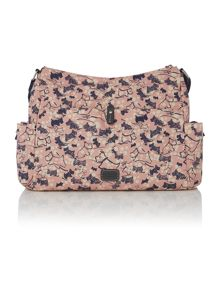 Cherry blossom dog large pink cross body bag