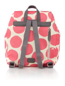 Spot on pink flapover backpack