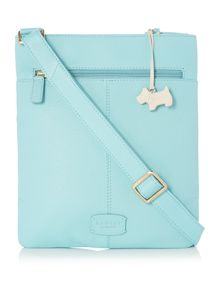 Pocket bag turquoise cross body