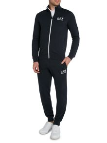 Plain Funnel Neck Zip Fastening Tracksuit