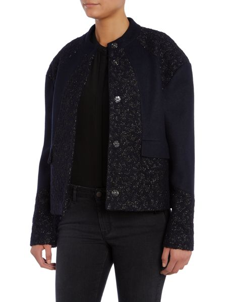 Armani Jeans Short jacket with lurex panels
