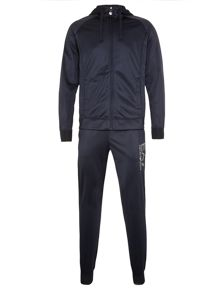 Plain tracksuit with zip fastening