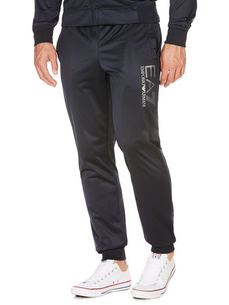 EA7 Plain tracksuit with zip fastening