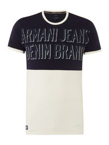 Slim Fit Denim Brand Printed T Shirt