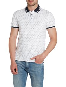 Regular Fit All Over Logo Polo Shirt