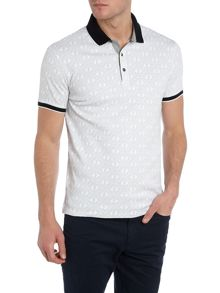 Regular Fit All Over Logo Printed Polo Shirt