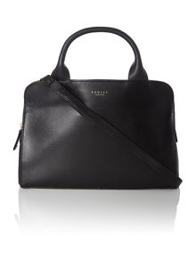 Milbank black medium tote cross body bag