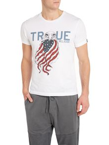 Slim Fit Eagle Print T-Shirt