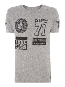 True Religion Slim Fit Crew Neck Badge Printed T-Shirt